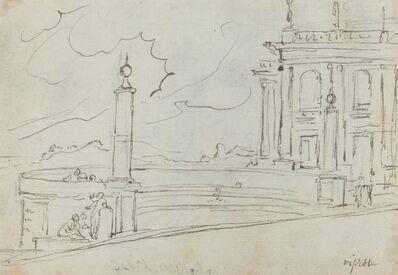 Augustin Pajou, 'The Ripetta in Rome [verso]', 1752/1756