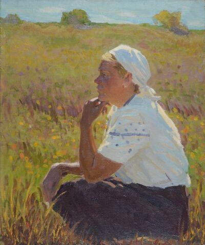 Aleksandr Timofeevich Danilichev, 'Woman in white shirt', circa. 1950
