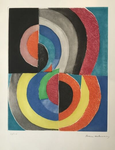 Sonia Delaunay, 'Composition with Semicircles', 1970