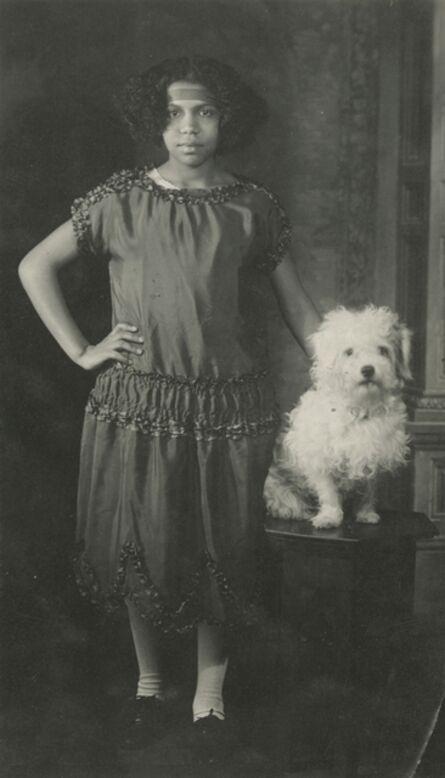 James Van Der Zee, 'Young Girl With Dog', 1921