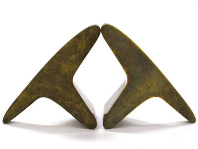 Carl Auböck, 'Patinated Brass Bookends', ca. 1950s