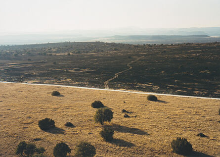 Victoria Sambunaris, 'Untitled (road dividing charred land), Fort Davis, Texas', 2011