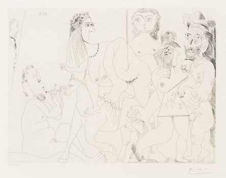 Pablo Picasso, 'Degas imaginant, from La Séries 156', 1971