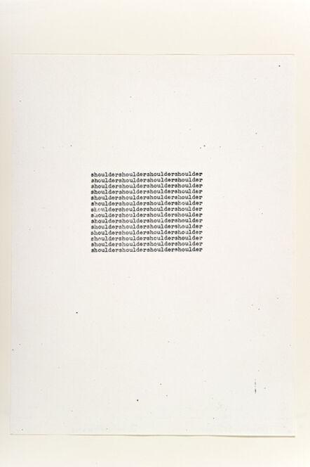 Carl Andre, 'Shoulder', 1963