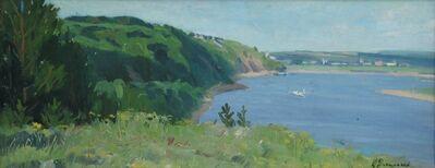 Aleksandr Timofeevich Danilichev, 'Oká River shore', 1962