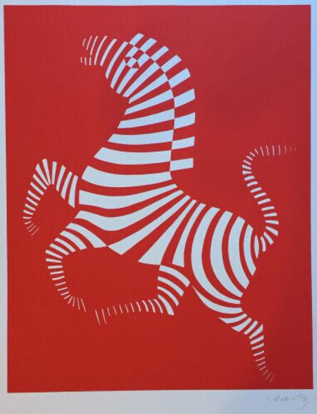 Victor Vasarely, 'Red zebra', Unknown