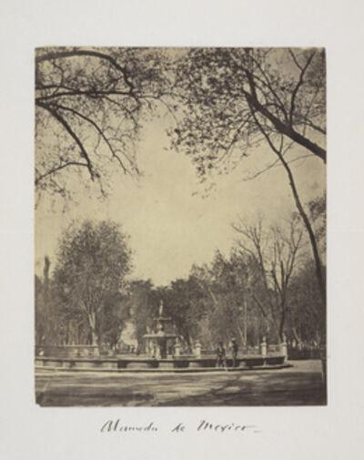 Claude Joseph Désiré Charnay, 'Alameda de Mexico', 1858