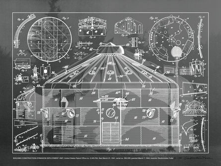 R. Buckminster Fuller, 'BUILDING CONSTRUCTION - DYMAXION DEPLOYMENT UNIT (SHEET), ', 1981
