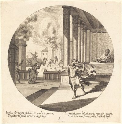 Georg Andreas Wolfgang, the Elder, 'Jove Turns Lycaon into a Wolf', 1665