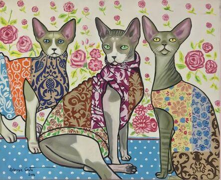Ademyr Costa, 'Three Cats', 2016