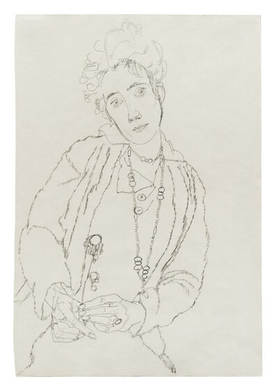 Egon Schiele, 'Woman Holding Flower (Edith Schiele)', 1915