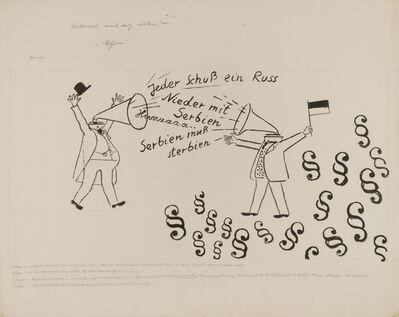 George Grosz, 'Jeder Schuss ein Russ (Everyone shoot a Russ (ian))', 1927