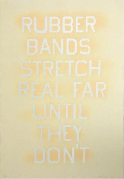 Ed Ruscha, 'Rubber Bands (State III)', 2017