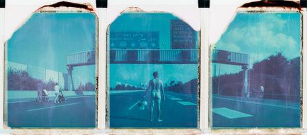 Ariel Shelleg, 'Wanderlust (Self Portrait), 21st Century, Contemporary, Polaroid, Blue, Highway, Israel', 2018