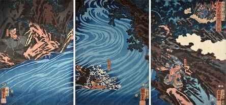 Utagawa Kuniyoshi, 'Tales of the Three Kingdoms: Gentoku', 1853