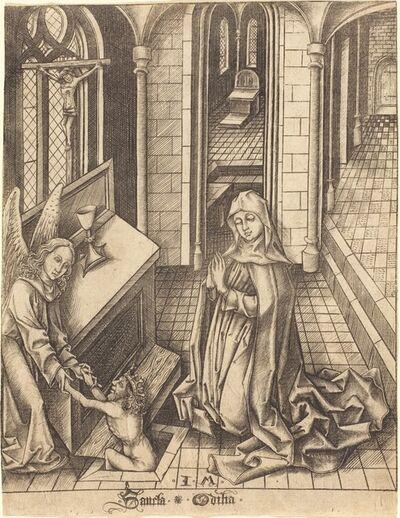 Israhel van Meckenem, 'Saint Ottilia', ca. 1475/1480