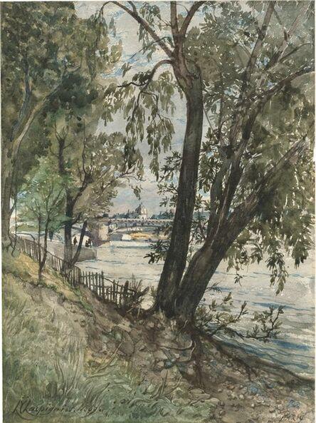 Henri-Joseph Harpignies, 'Les berges de la Seine à Paris', 1869