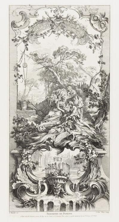 Charles-Nicolas Cochin the younger, 'Triomphe de Pomone [Triumph of Pomona] from Nouveaux Morceaux pour des paravents [New Concepts for Screens]', 1740