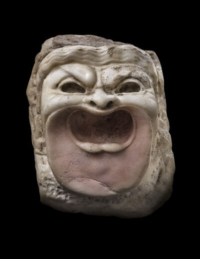 Unknown Roman, 'Ancient Roman Marble Comedy Mask', ca. 1st century