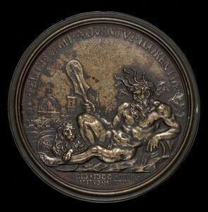 Antonio Montauti, 'Personification of the River Arno [reverse]', 1708