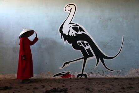 "Sikhumbuzo Makandula, 'Ubuzwe I (Featuring graffiti work by Buntu Fihla, titled ""nyeke kaSebe / Sebe's Lip"")', 2016"