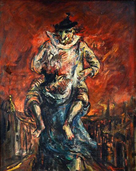 Yosl Bergner, 'Fire in Venice', 1970