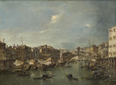 Francesco Guardi, 'Grand Canal with the Rialto Bridge, Venice', probably c. 1780