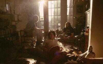The Family Acid, 'Smoke Break, Tim, Dad and Doug, Silverlake, CA, May, 1978', 1978