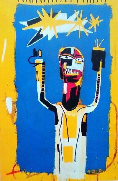 Jean-Michel Basquiat, 'Welcoming Jeers (Framed)', 1997