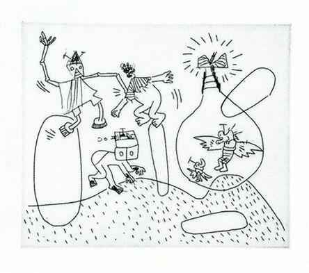 Keith Haring, 'Untitled (with Sean Kalish) K', 1989