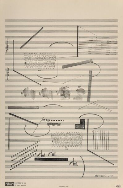 Saul Steinberg, 'Electric Drill Music', 1968