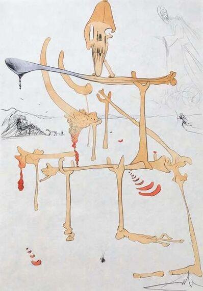 Salvador Dalí, 'Paysage avec Squelette (Landscape w/Skeleton)', 1975