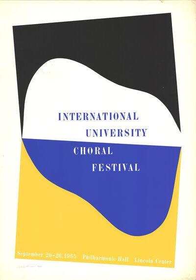 Charles Hinman, 'International University Choral Festival', 1965