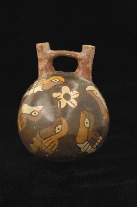 'Double spout bottle with hummingbirds', 100 BCE-600 CE
