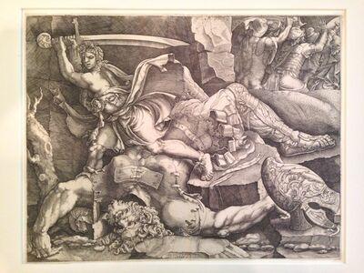 Giovanni Battista Scultori, 'David Cutting Off the Head of Goliath (after Giulio Romano)', 1540