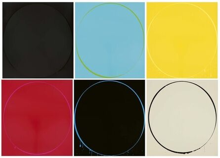 Ian Davenport, 'Ovals – Set of 6', 2002