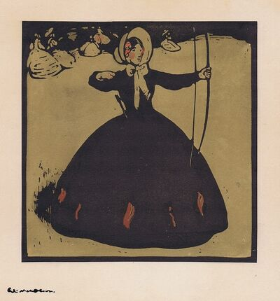 William Nicholson, 'Archery', 1898