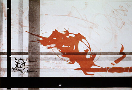 Rammellzee, 'Sirpier-E-Ule's Luxturnomere, Staff Landing (Future Futurism)', 1984