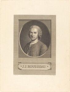 Augustin de Saint-Aubin after Maurice-Quentin de La Tour, 'Frontispiece: J.J. Rousseau', 1777