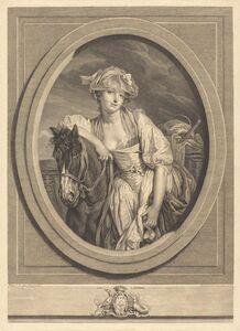 Jean Charles Levasseur after Jean-Baptiste Greuze, 'La laitiere', 1783