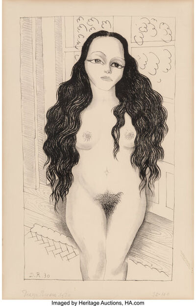 Diego Rivera, 'Nude with long hair (Dolores Olmedo)', 1930