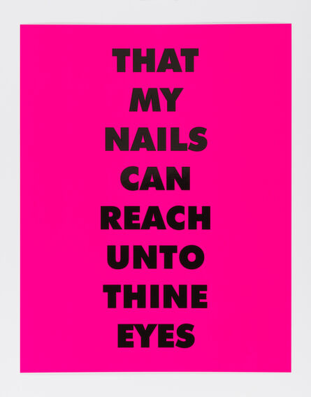 Sterling Ruby, 'THAT MY NAILS CAN REACH UNTO THINE EYES', 2021