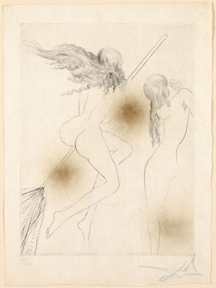 Salvador Dalí, 'Witches with Broom', 1968-69