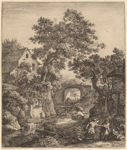 Anthonie Waterloo, 'Landscape with the Circumcision of Moses' Son'