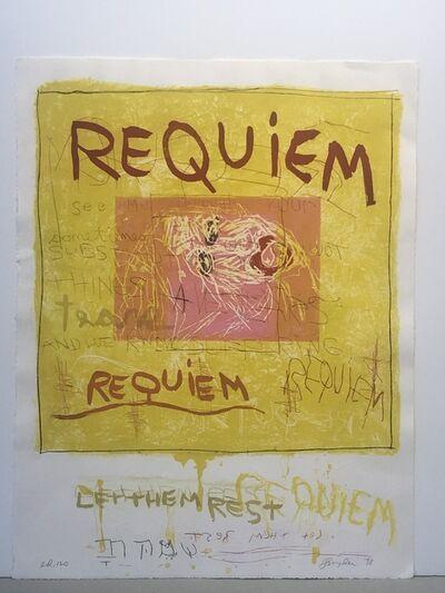 """Joan Snyder, '""""Requiem/Let them rest""""', 1998"""