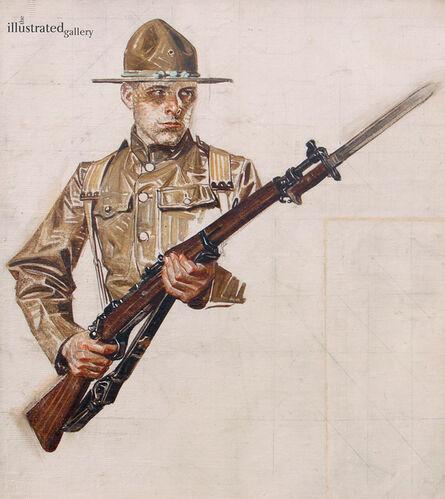 Joseph Christian Leyendecker, 'Study for World War I Soldier Collier's Cover', 1917