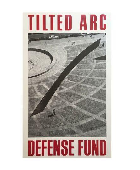"Richard Serra, '""Tilted Arc Defense Fund"", 1985, Poster, Limited Edition, Leo Castelli Gallery NYC', 1985"