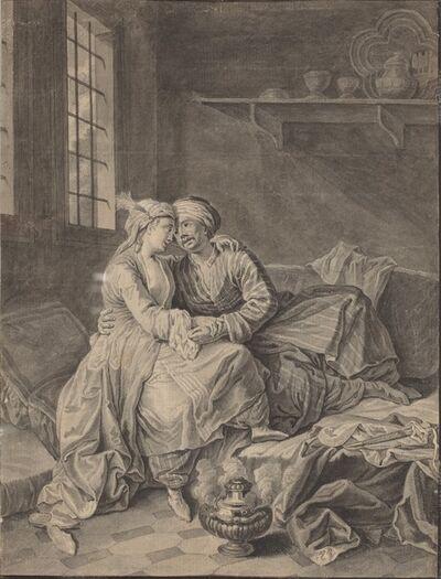 Anton Weiss, 'Oriental Lovers [verso]', 1764