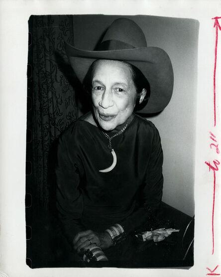 Andy Warhol, 'Diana Vreeland', ca. 1977