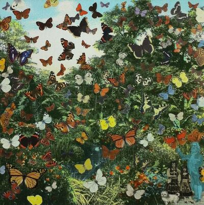 Peter Blake, 'Inkjet on canvas - London - Hyde Park ‐Positively the Last Appearance of the Butterfly Man', 2013